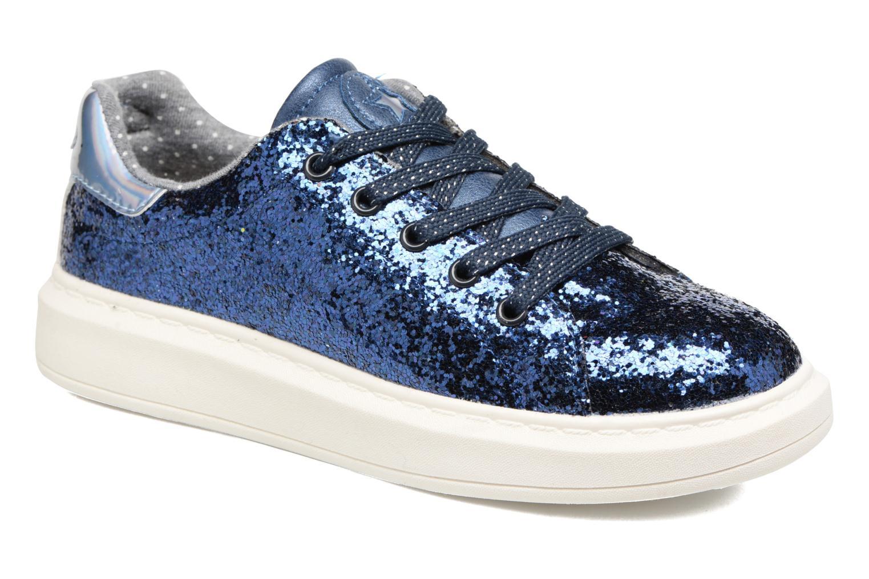 Baskets I Love Shoes Xucro Bleu vue détail/paire