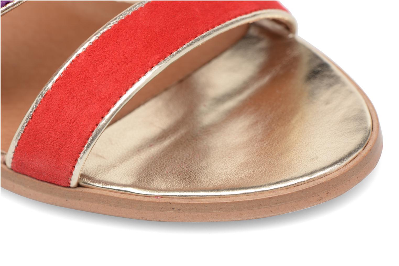 Bombay Babes Sandales à Talons #2 Cuir Velours Rouge / Fushia