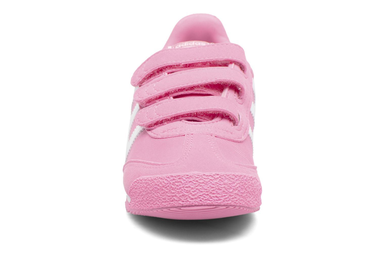 Baskets Adidas Originals Dragon Og Cf C Rose vue portées chaussures