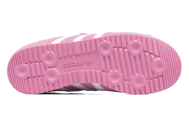 Baskets Adidas Originals Dragon Og Cf C Rose vue haut