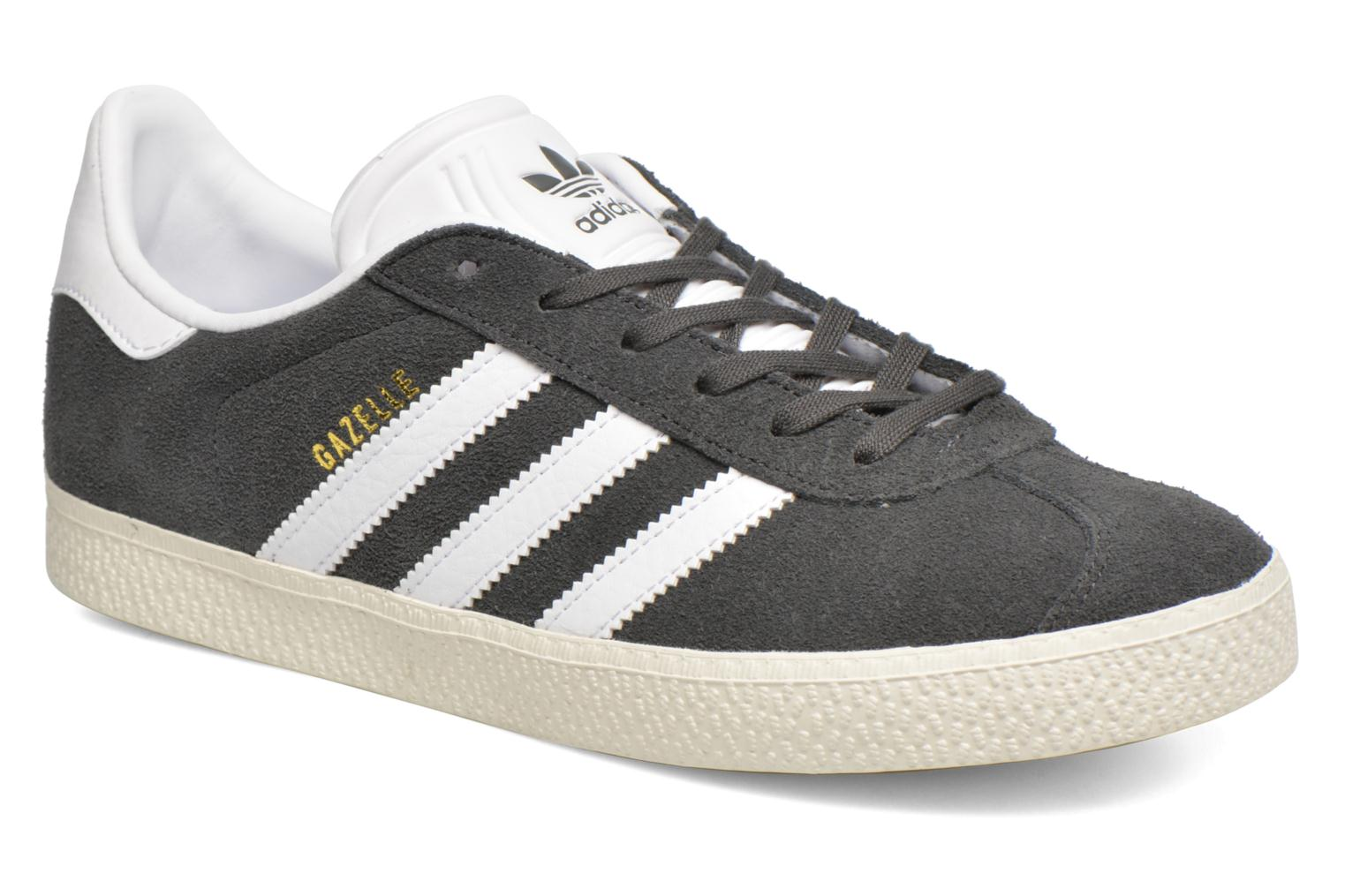 Baskets Adidas Originals Gazelle J Gris vue détail/paire