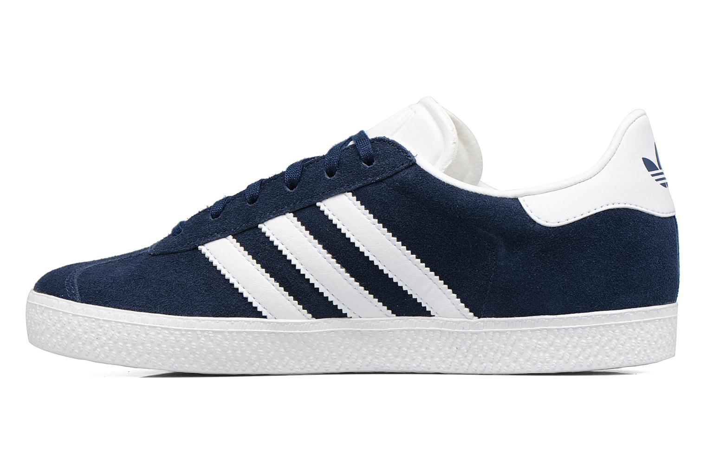 Baskets Adidas Originals Gazelle J Bleu vue face