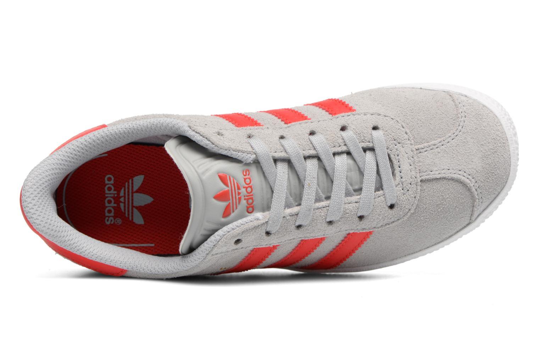 Baskets Adidas Originals Gazelle C Gris vue gauche