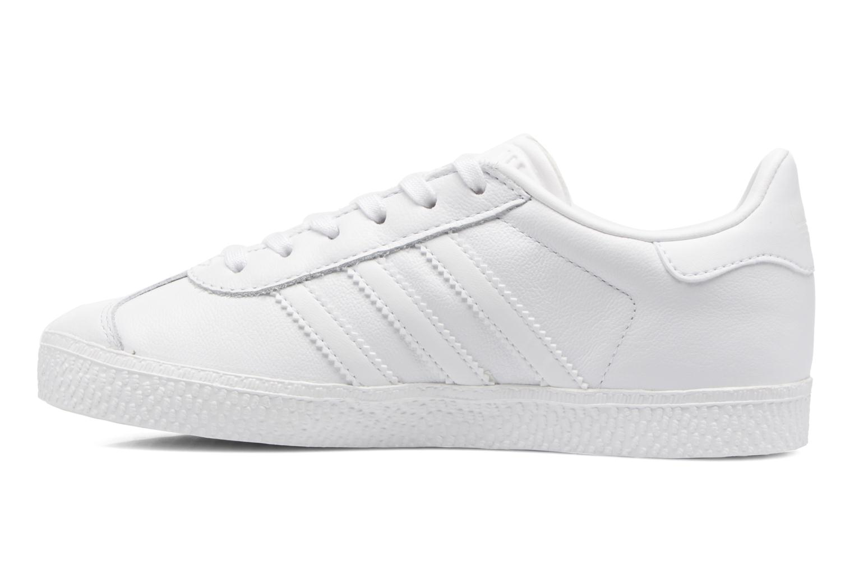 Sneaker Adidas Originals Gazelle C weiß ansicht von vorne