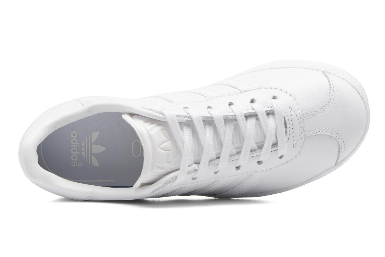 Baskets Adidas Originals Gazelle C Blanc vue gauche