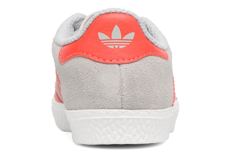 Baskets Adidas Originals Gazelle I Gris vue droite