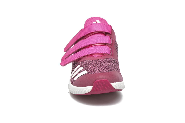 Baskets Adidas Performance Fortarun Cf K Rose vue portées chaussures