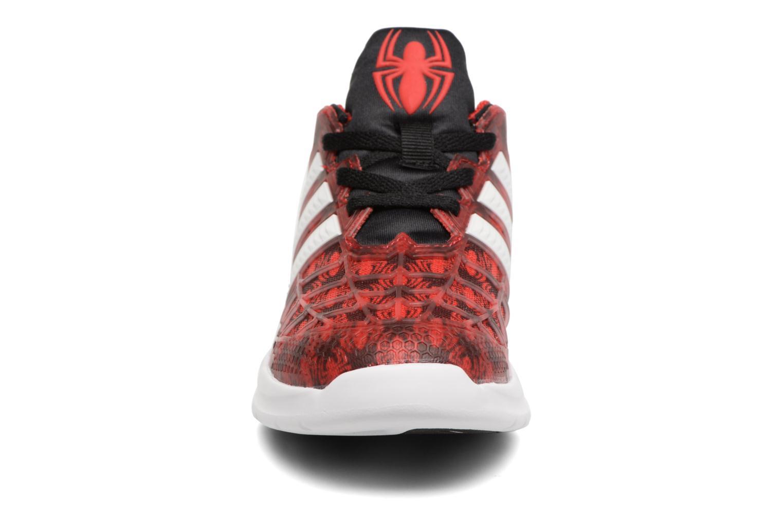 Baskets Adidas Performance Marvel Spider-Man K Rouge vue portées chaussures