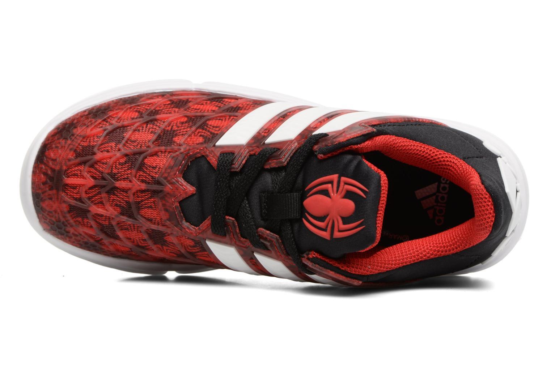 Baskets Adidas Performance Marvel Spider-Man K Rouge vue gauche