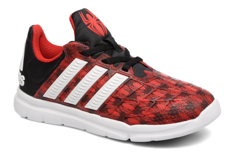 Baskets Adidas Performance Marvel Spider-Man K Rouge vue détail/paire