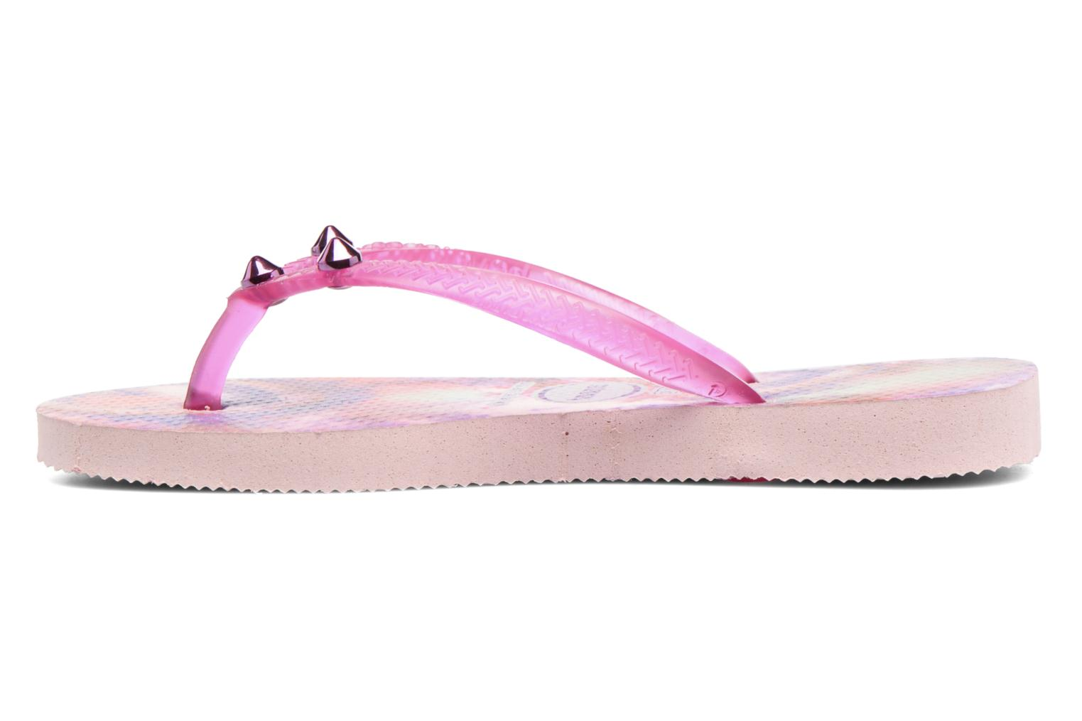 Tongs Havaianas Kids Slim Style Rose vue face