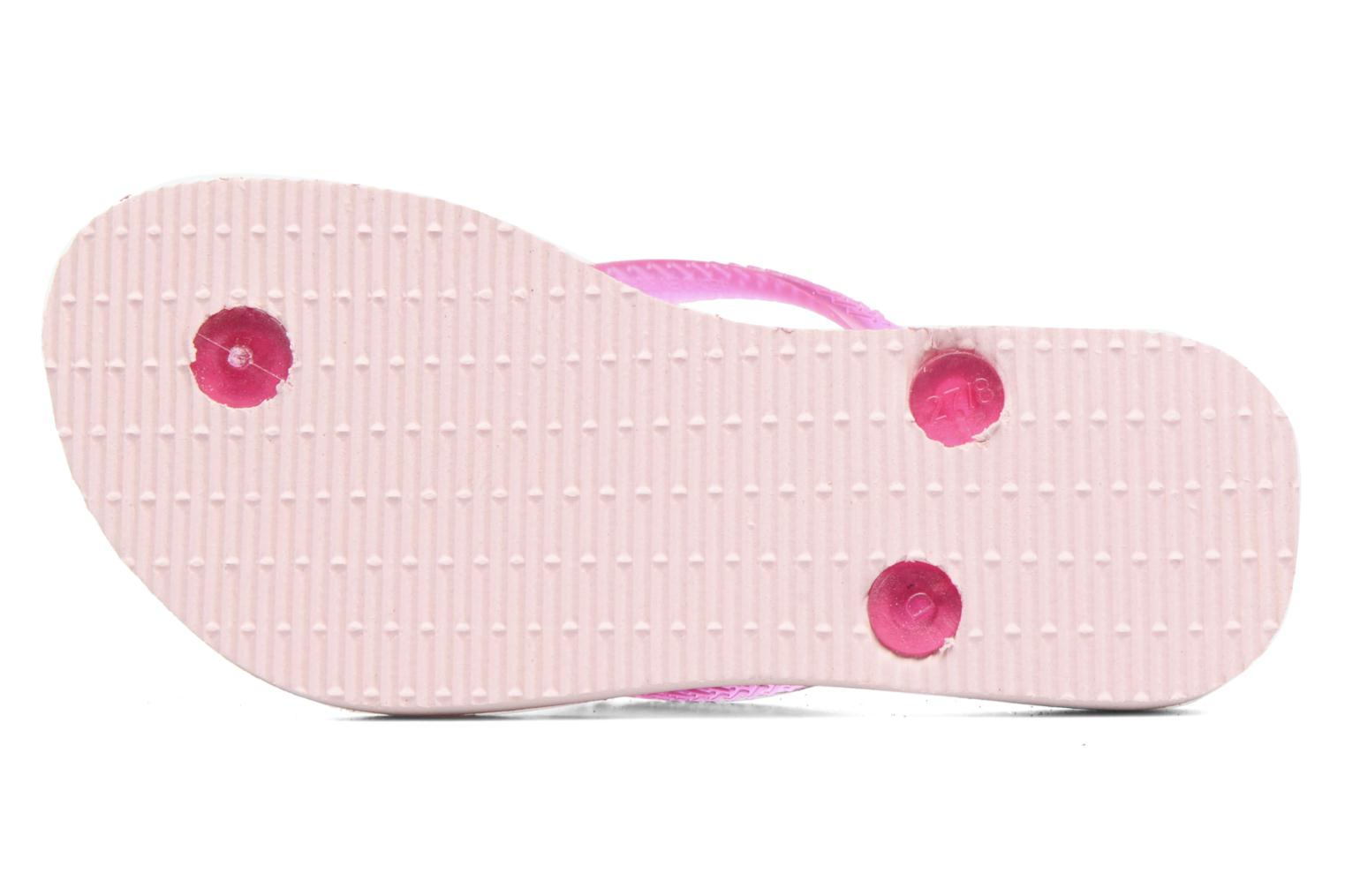 Tongs Havaianas Kids Slim Style Rose vue haut
