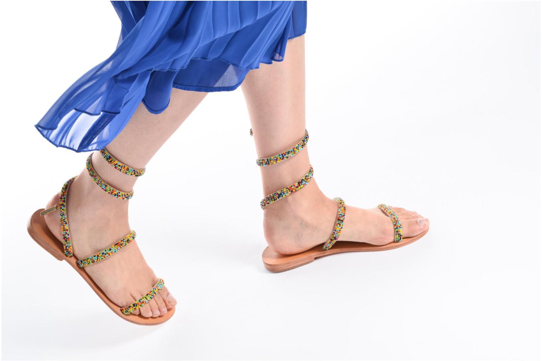Sandales et nu-pieds Les Tropéziennes par M Belarbi Olga 2 Multicolore vue bas / vue portée sac