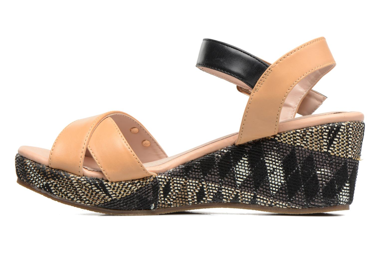 Sandali e scarpe aperte Les Tropéziennes par M Belarbi Gatiela Beige immagine frontale