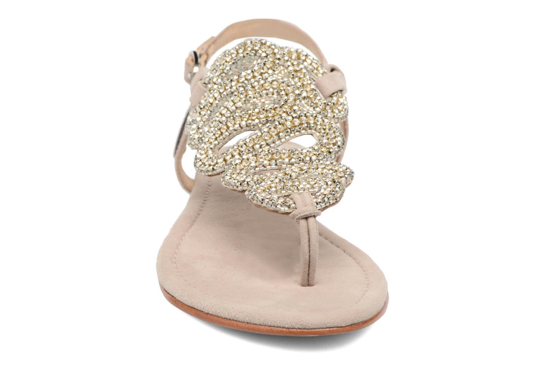 Sandales et nu-pieds Les Tropéziennes par M Belarbi Jaca Beige vue portées chaussures