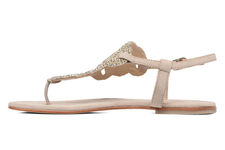 Sandales et nu-pieds Les Tropéziennes par M Belarbi Jaca Beige vue face