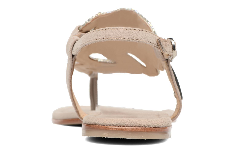 Sandales et nu-pieds Les Tropéziennes par M Belarbi Jaca Beige vue droite