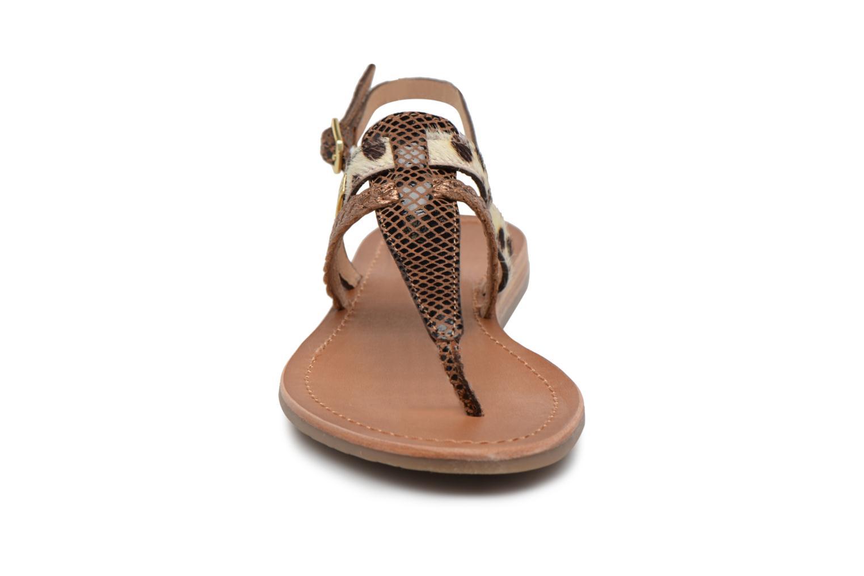 Sandalias Les Tropéziennes par M Belarbi Baraka Oro y bronce vista del modelo
