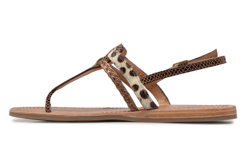 Sandals Les Tropéziennes par M Belarbi Baraka Bronze and Gold front view
