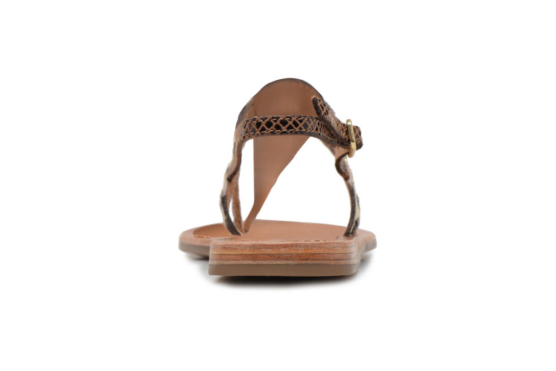 Sandalias Les Tropéziennes par M Belarbi Baraka Oro y bronce vista lateral derecha