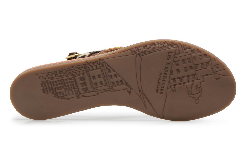 Sandals Les Tropéziennes par M Belarbi Baraka Bronze and Gold view from above