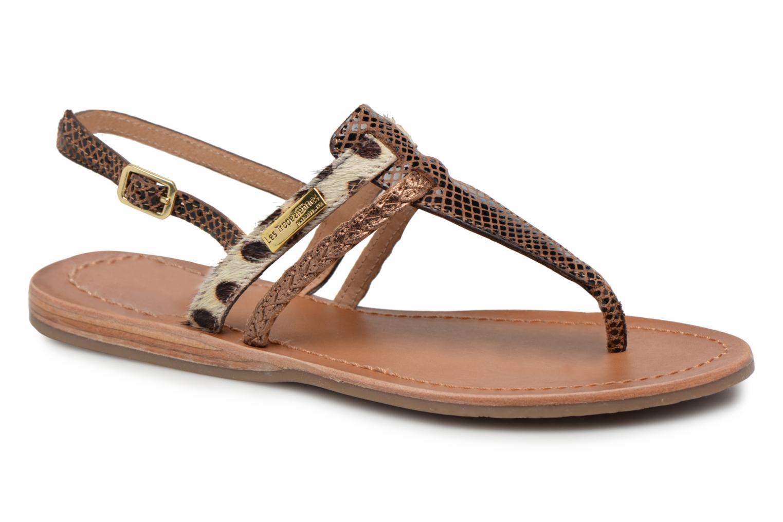 Sandals Les Tropéziennes par M Belarbi Baraka Bronze and Gold detailed view/ Pair view