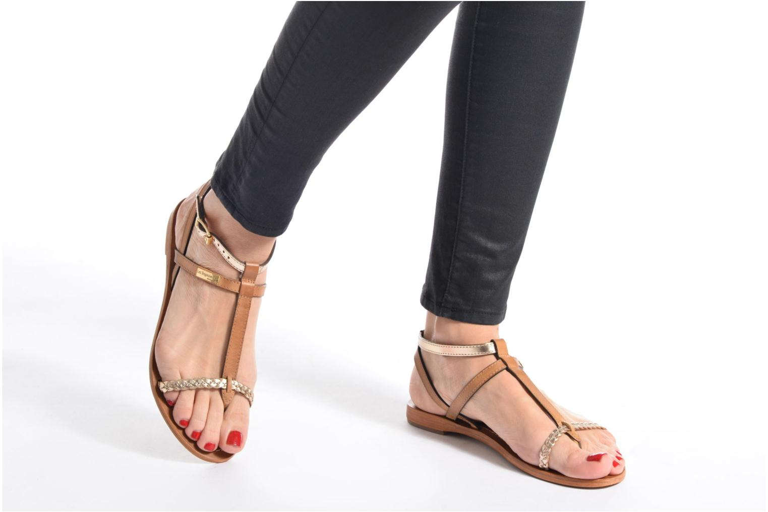 Sandales et nu-pieds Les Tropéziennes par M Belarbi Hilatres Marron vue bas / vue portée sac