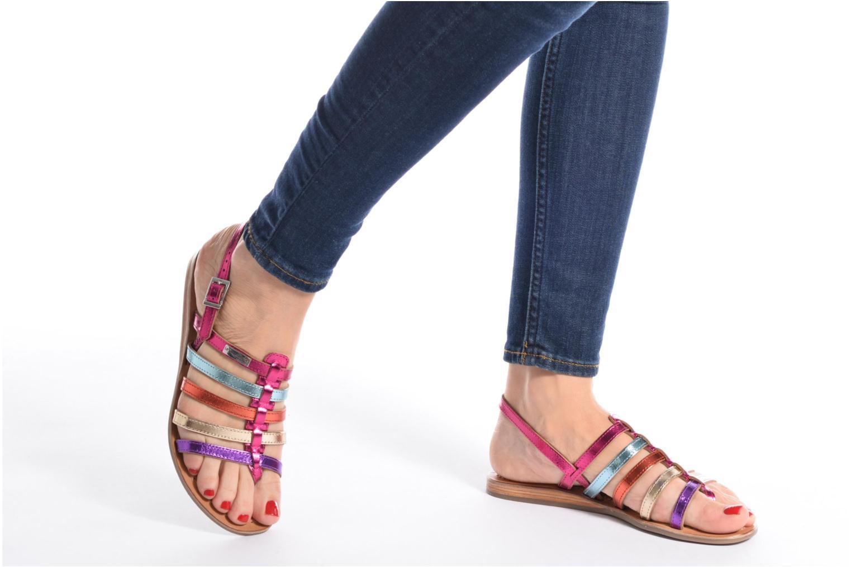 Sandales et nu-pieds Les Tropéziennes par M Belarbi Heripo Multicolore vue bas / vue portée sac
