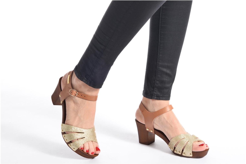 Sandales et nu-pieds Les Tropéziennes par M Belarbi Venise Or et bronze vue bas / vue portée sac