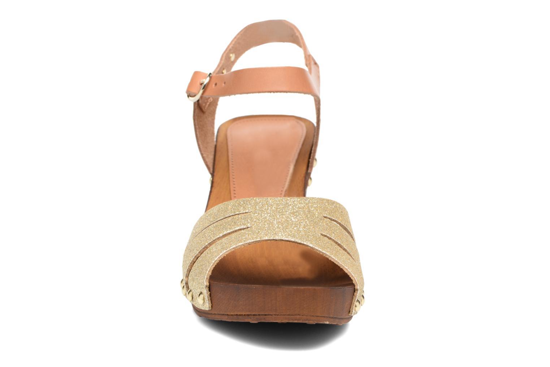 Sandales et nu-pieds Les Tropéziennes par M Belarbi Venise Or et bronze vue portées chaussures