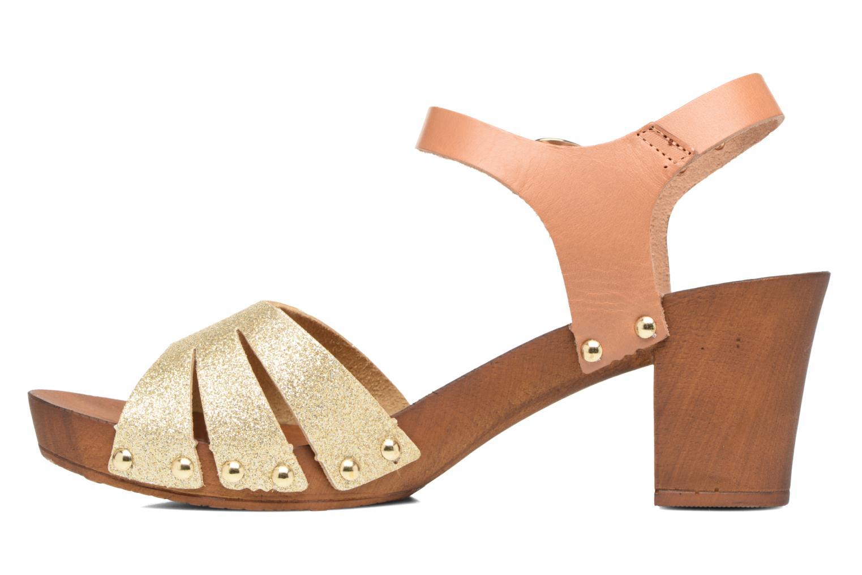 Sandales et nu-pieds Les Tropéziennes par M Belarbi Venise Or et bronze vue face