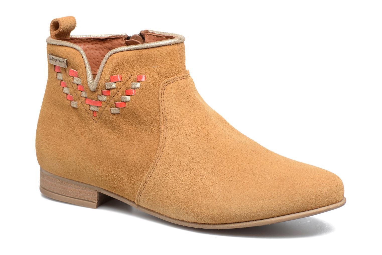 Les Tropéziennes par M Belarbi Platine (Marron) - Bottines et boots chez Sarenza (308299)