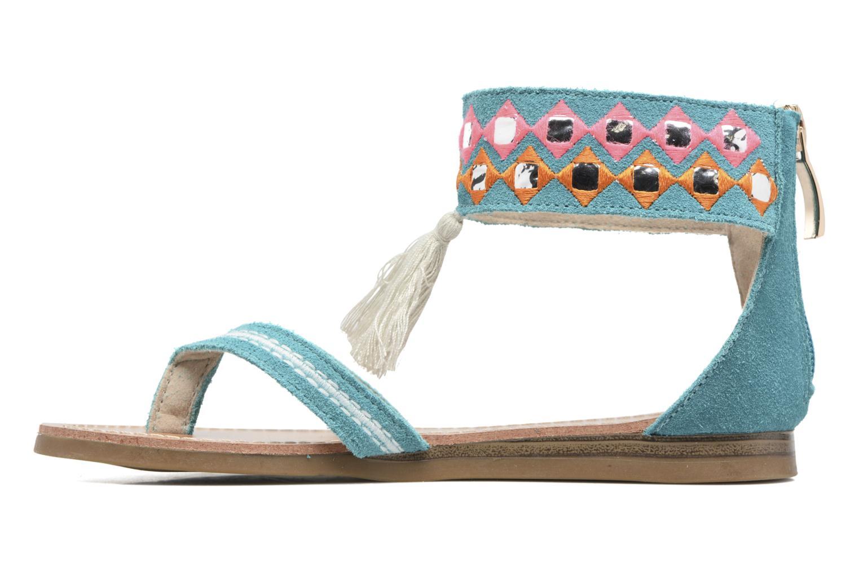 Sandales et nu-pieds Les Tropéziennes par M Belarbi Galactik Bleu vue face