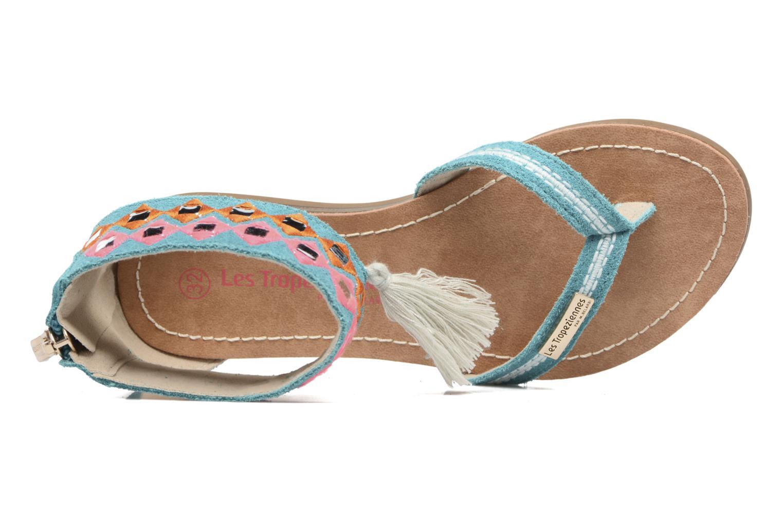 Sandales et nu-pieds Les Tropéziennes par M Belarbi Galactik Bleu vue gauche