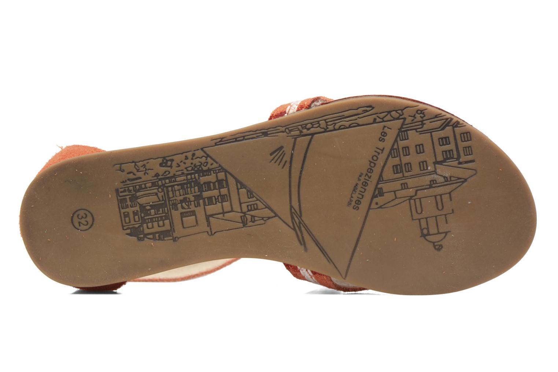 Sandales et nu-pieds Les Tropéziennes par M Belarbi Galactik Orange vue haut