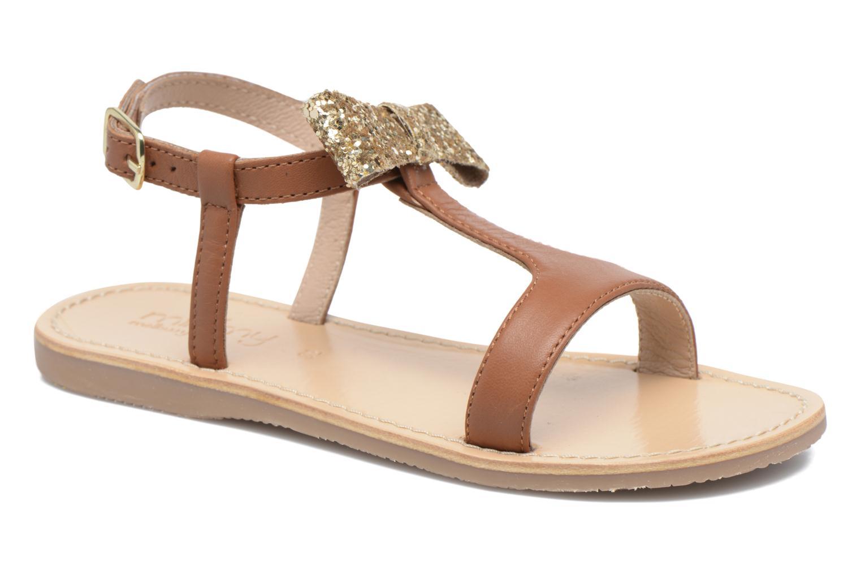 Sandales et nu-pieds Mellow Yellow Mnballydolly Marron vue détail/paire