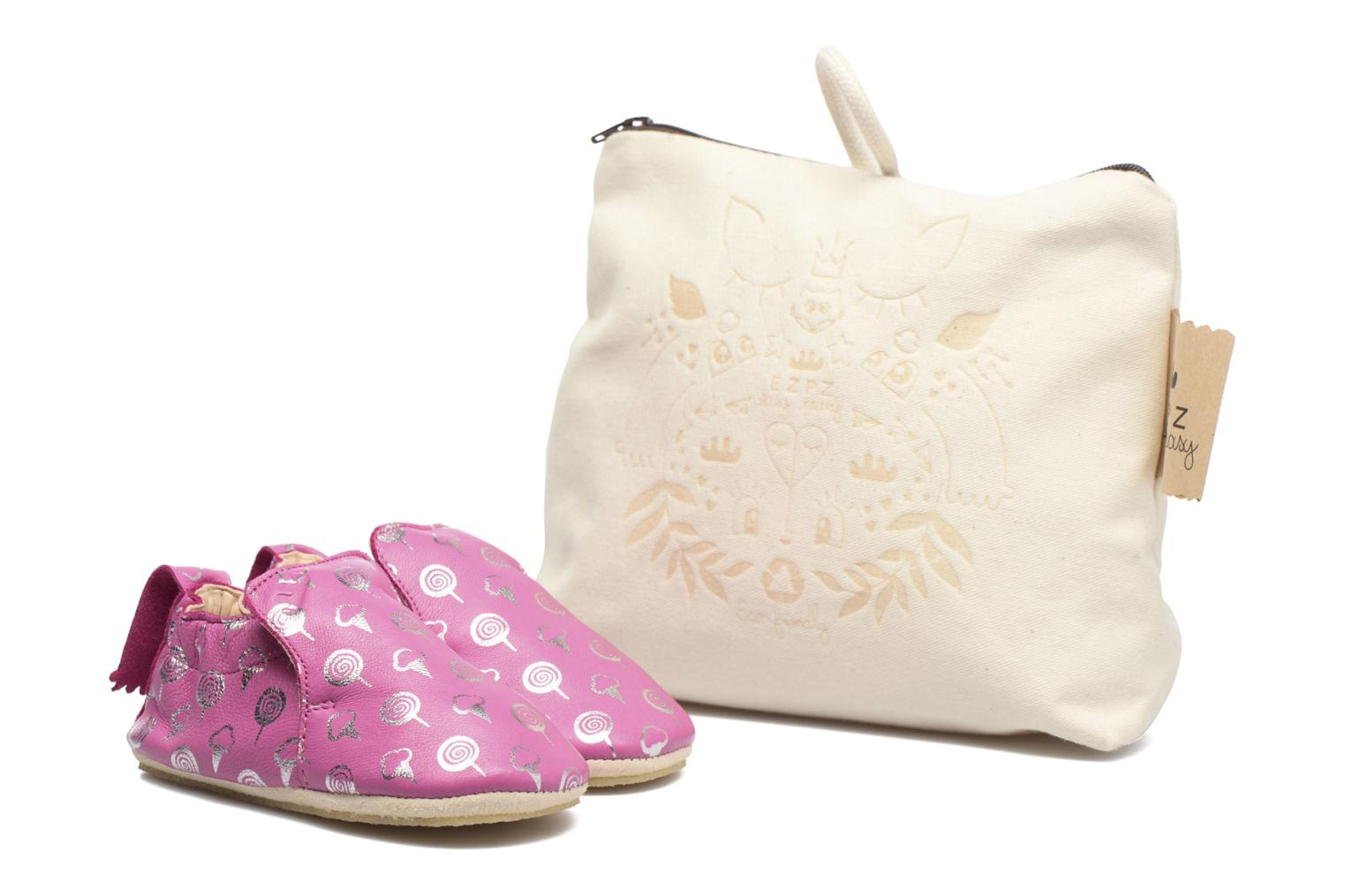 Chaussons Easy Peasy Blublu Sweety Rose vue détail/paire