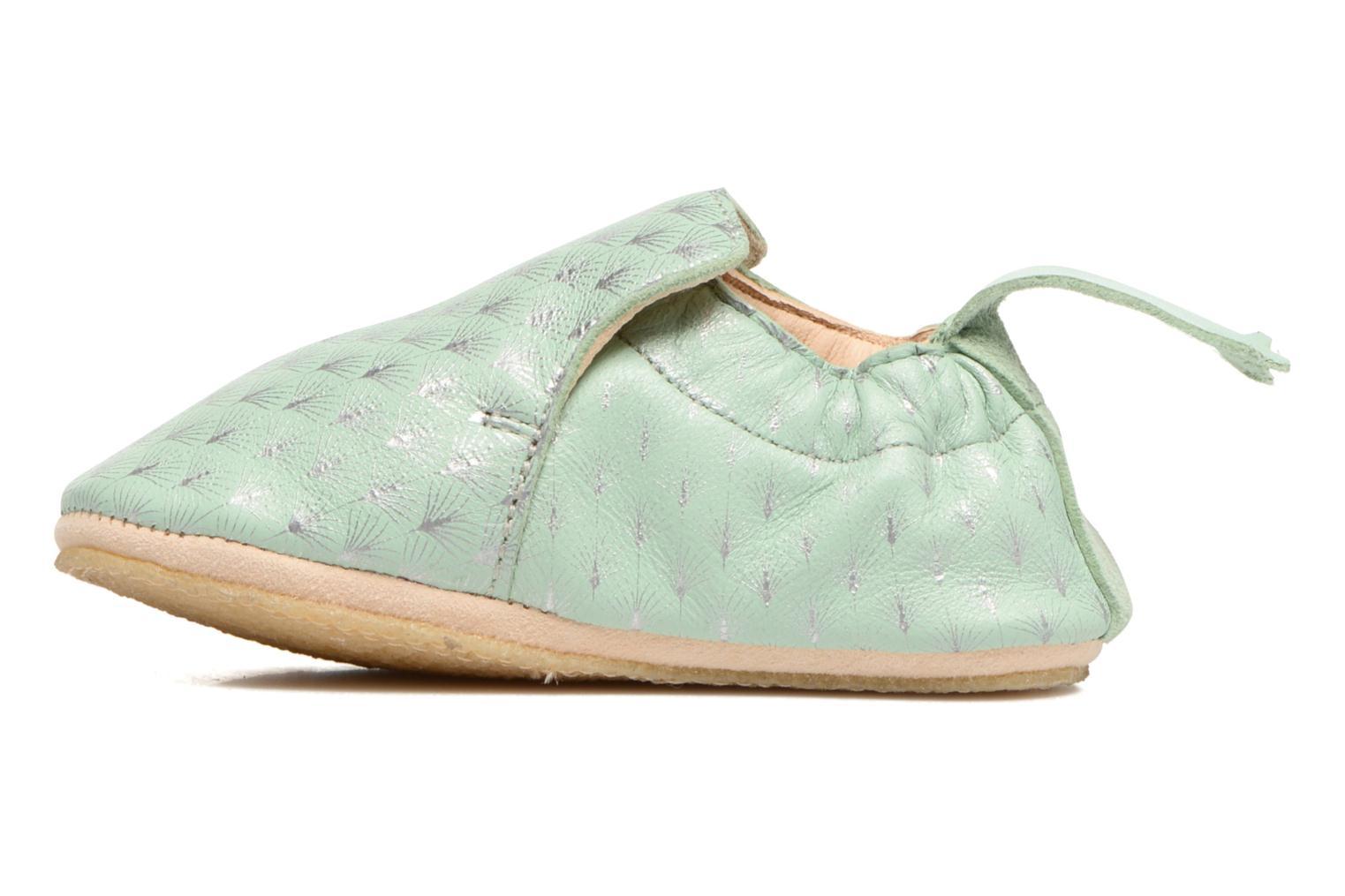 Chaussons Easy Peasy Blublu Feuille Vert vue face