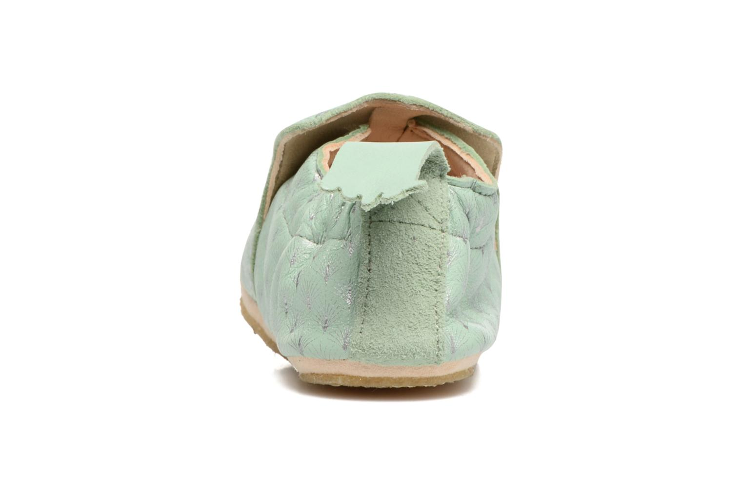 Chaussons Easy Peasy Blublu Feuille Vert vue droite