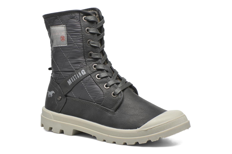 Bottines et boots Mustang shoes Amalia Gris vue 3/4