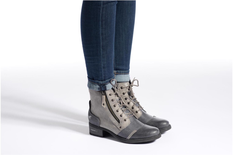 Bottines et boots Mustang shoes Axelle Gris vue bas / vue portée sac