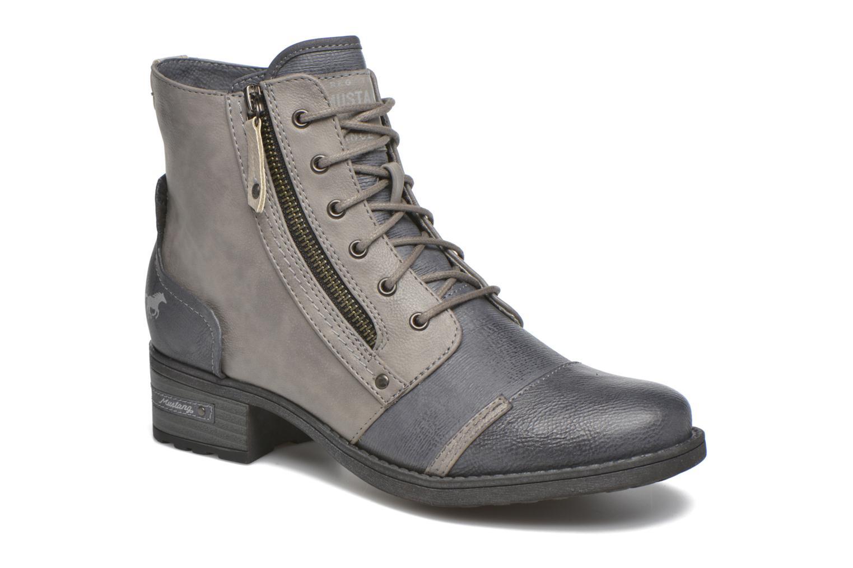 Bottines et boots Mustang shoes Axelle Gris vue détail/paire