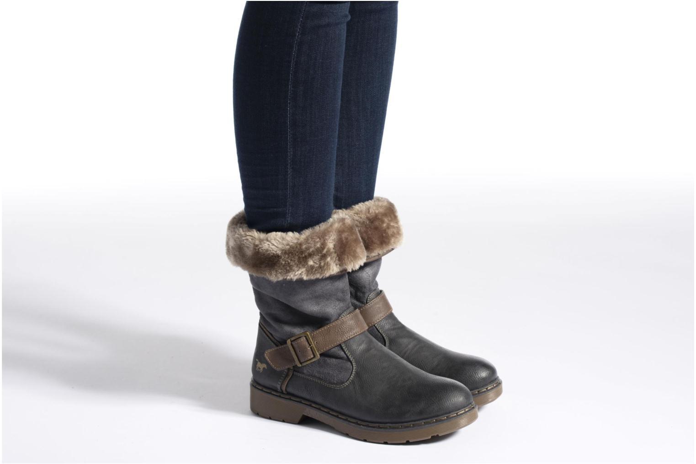 Bottines et boots Mustang shoes Bridget Gris vue bas / vue portée sac
