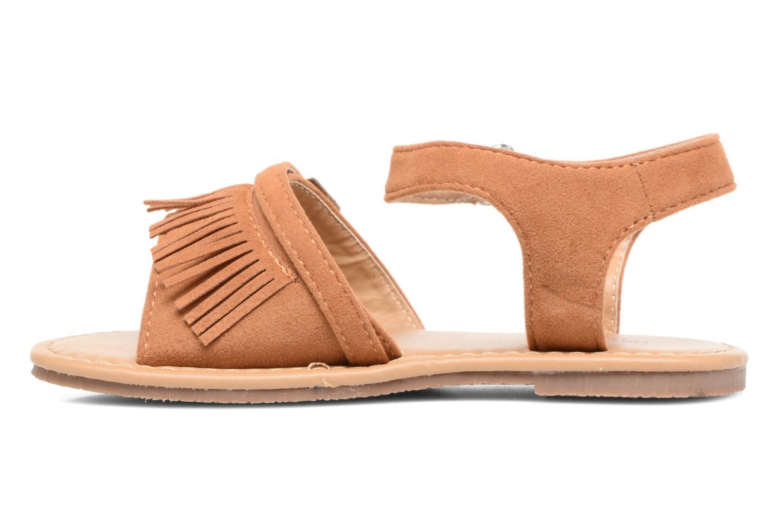 Sandales et nu-pieds NA! Rubis Marron vue face