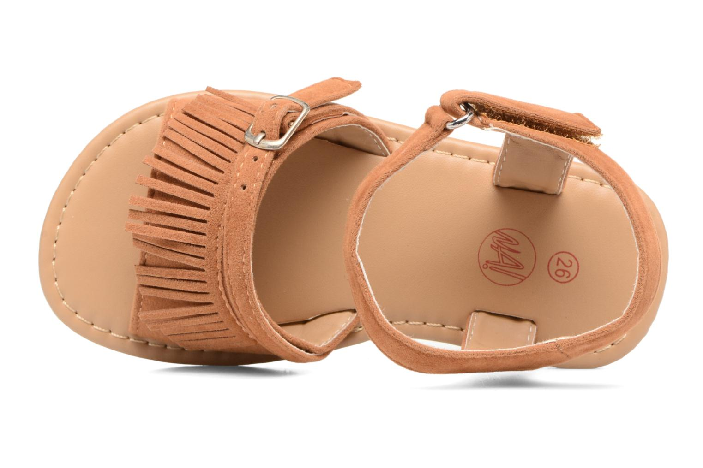 Sandales et nu-pieds NA! Rubis Marron vue gauche