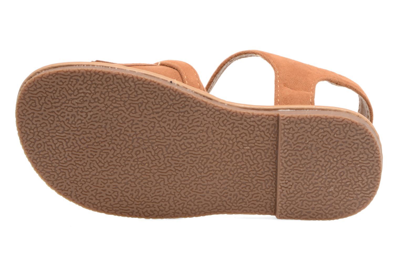 Sandales et nu-pieds NA! Rubis Marron vue haut