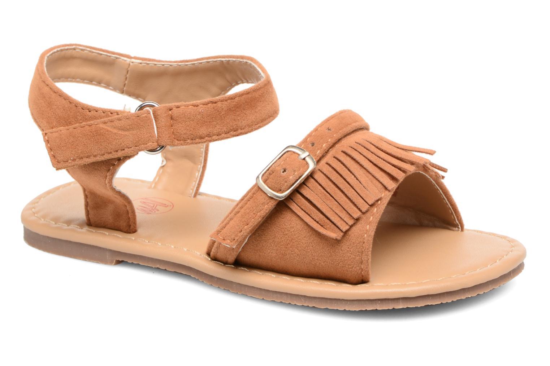 Sandales et nu-pieds NA! Rubis Marron vue détail/paire