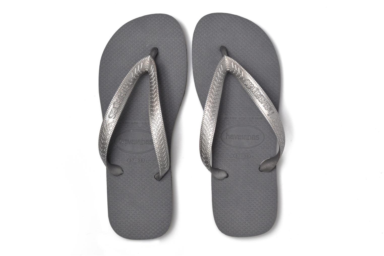 Flip flops Havaianas Top Tiras Grey 3/4 view