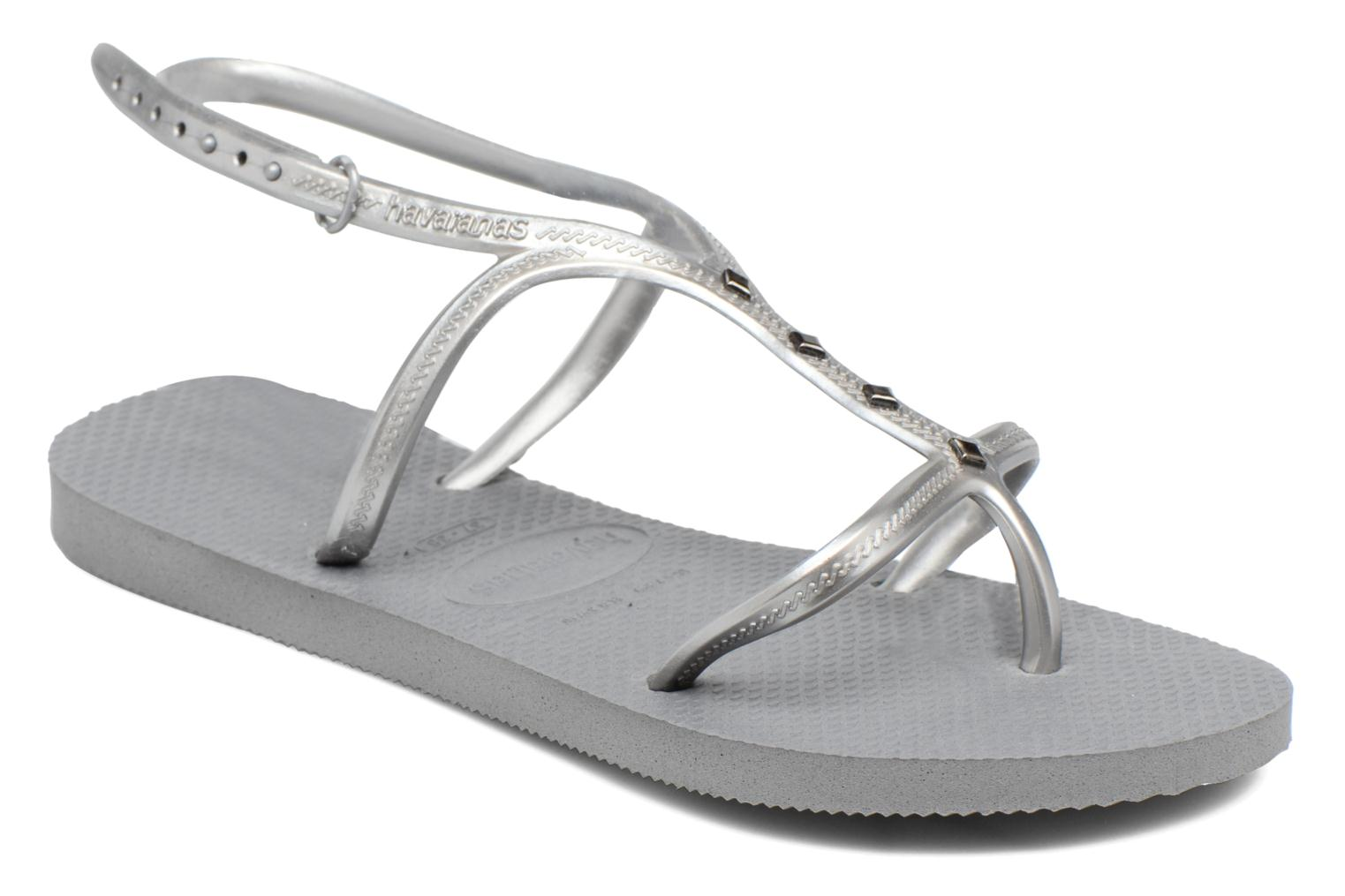 Sandals Havaianas Allure Maxi Grey detailed view/ Pair view