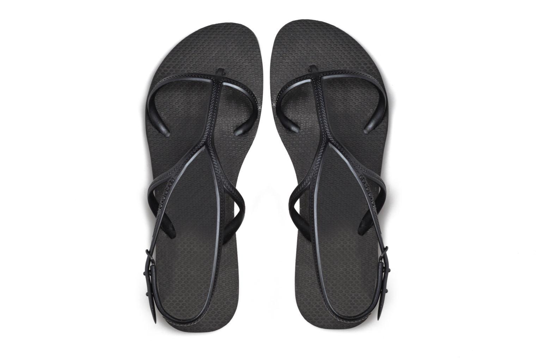 Sandals Havaianas Allure Black 3/4 view